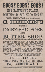 Advert For C. Heiden's Butter Shop